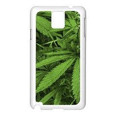 Marijuana Plants Pattern Samsung Galaxy Note 3 N9005 Case (white)