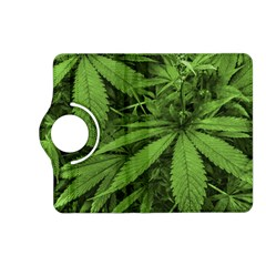 Marijuana Plants Pattern Kindle Fire Hd (2013) Flip 360 Case