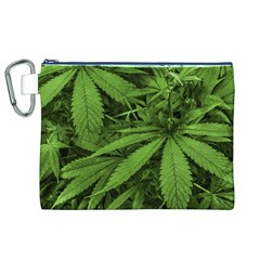 Marijuana Plants Pattern Canvas Cosmetic Bag (xl)