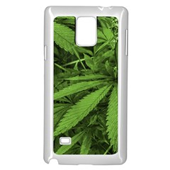 Marijuana Plants Pattern Samsung Galaxy Note 4 Case (white)
