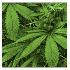 Marijuana Plants Pattern Large Satin Scarf (square)