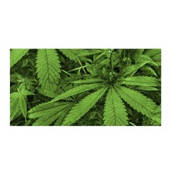 Marijuana Plants Pattern Satin Wrap