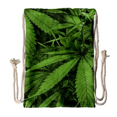 Marijuana Plants Pattern Drawstring Bag (large)