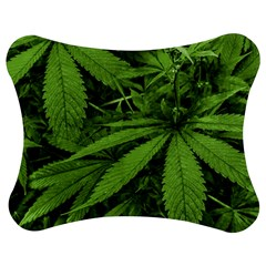 Marijuana Plants Pattern Jigsaw Puzzle Photo Stand (bow)
