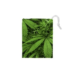 Marijuana Plants Pattern Drawstring Pouches (xs)