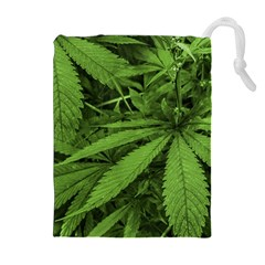 Marijuana Plants Pattern Drawstring Pouches (extra Large)