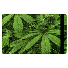 Marijuana Plants Pattern Apple Ipad Pro 9 7   Flip Case