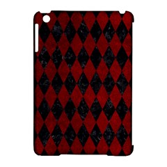 Diamond1 Black Marble & Red Grunge Apple Ipad Mini Hardshell Case (compatible With Smart Cover)