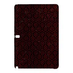 Hexagon1 Black Marble & Red Grunge (r) Samsung Galaxy Tab Pro 10 1 Hardshell Case