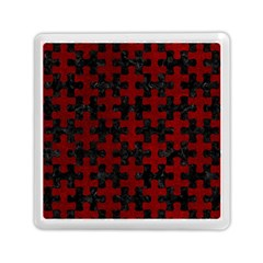 Puzzle1 Black Marble & Red Grunge Memory Card Reader (square)