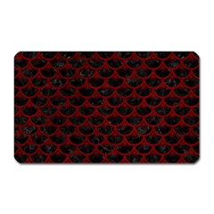 Scales3 Black Marble & Red Grunge (r) Magnet (rectangular)