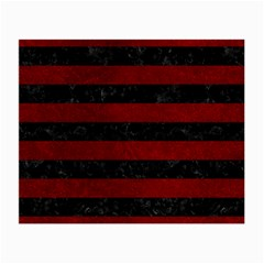 Stripes2 Black Marble & Red Grunge Small Glasses Cloth (2 Side)