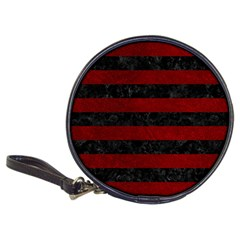 Stripes2 Black Marble & Red Grunge Classic 20 Cd Wallets