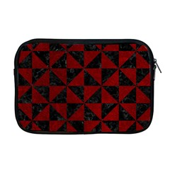 Triangle1 Black Marble & Red Grunge Apple Macbook Pro 17  Zipper Case