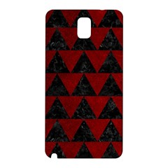 Triangle2 Black Marble & Red Grunge Samsung Galaxy Note 3 N9005 Hardshell Back Case