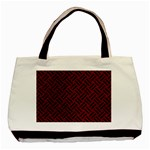 WOVEN2 BLACK MARBLE & RED GRUNGE Basic Tote Bag Front