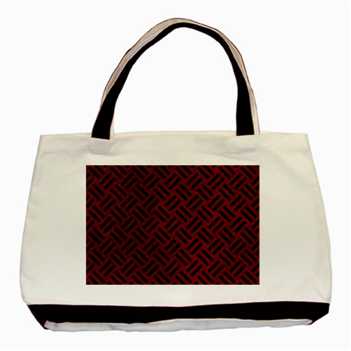 WOVEN2 BLACK MARBLE & RED GRUNGE Basic Tote Bag
