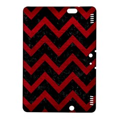 Chevron9 Black Marble & Red Leather (r) Kindle Fire Hdx 8 9  Hardshell Case