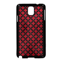 Circles3 Black Marble & Red Leather Samsung Galaxy Note 3 Neo Hardshell Case (black)
