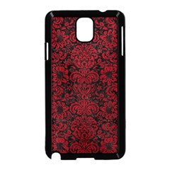 Damask2 Black Marble & Red Leather (r) Samsung Galaxy Note 3 Neo Hardshell Case (black)