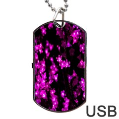 Abstract Background Purple Bright Dog Tag Usb Flash (one Side)