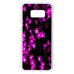Abstract Background Purple Bright Samsung Galaxy S8 Plus White Seamless Case