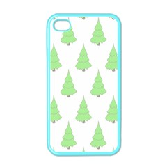 Background Christmas Christmas Tree Apple Iphone 4 Case (color)