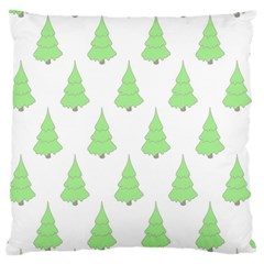 Background Christmas Christmas Tree Large Flano Cushion Case (two Sides)