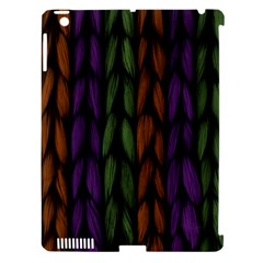 Background Weave Plait Purple Apple Ipad 3/4 Hardshell Case (compatible With Smart Cover)