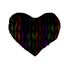 Background Weave Plait Purple Standard 16  Premium Heart Shape Cushions