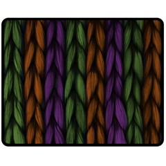 Background Weave Plait Purple Double Sided Fleece Blanket (medium)