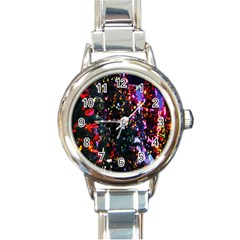 Abstract Background Celebration Round Italian Charm Watch