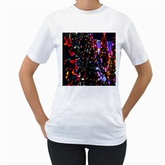 Abstract Background Celebration Women s T Shirt (white)