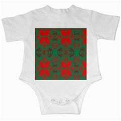 Christmas Background Infant Creepers