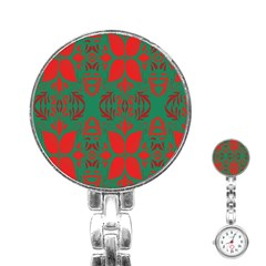 Christmas Background Stainless Steel Nurses Watch