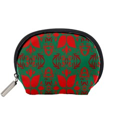 Christmas Background Accessory Pouches (small)