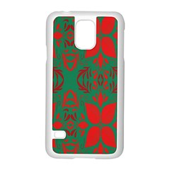 Christmas Background Samsung Galaxy S5 Case (white)