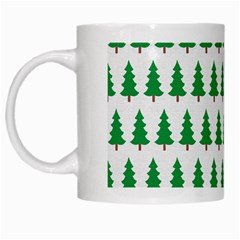 Christmas Background Christmas Tree White Mugs