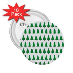 Christmas Background Christmas Tree 2 25  Buttons (10 Pack)