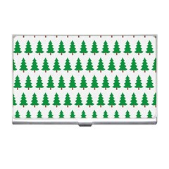 Christmas Background Christmas Tree Business Card Holders