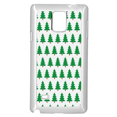 Christmas Background Christmas Tree Samsung Galaxy Note 4 Case (white)