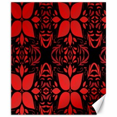 Christmas Red And Black Background Canvas 8  X 10