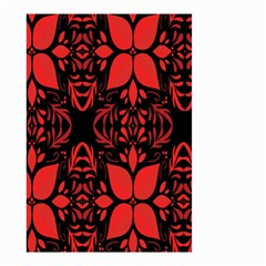 Christmas Red And Black Background Small Garden Flag (two Sides)