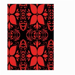 Christmas Red And Black Background Large Garden Flag (two Sides)