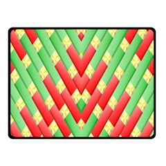 Christmas Geometric 3d Design Double Sided Fleece Blanket (small)