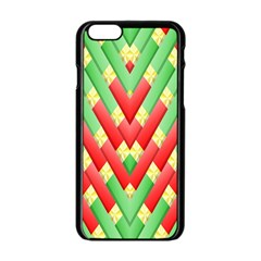 Christmas Geometric 3d Design Apple Iphone 6/6s Black Enamel Case