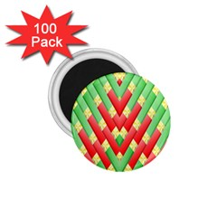 Christmas Geometric 3d Design 1 75  Magnets (100 Pack)