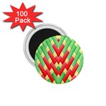 Christmas Geometric 3d Design 1.75  Magnets (100 pack)  Front