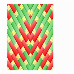 Christmas Geometric 3d Design Small Garden Flag (two Sides)