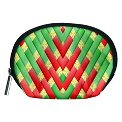 Christmas Geometric 3d Design Accessory Pouches (medium)